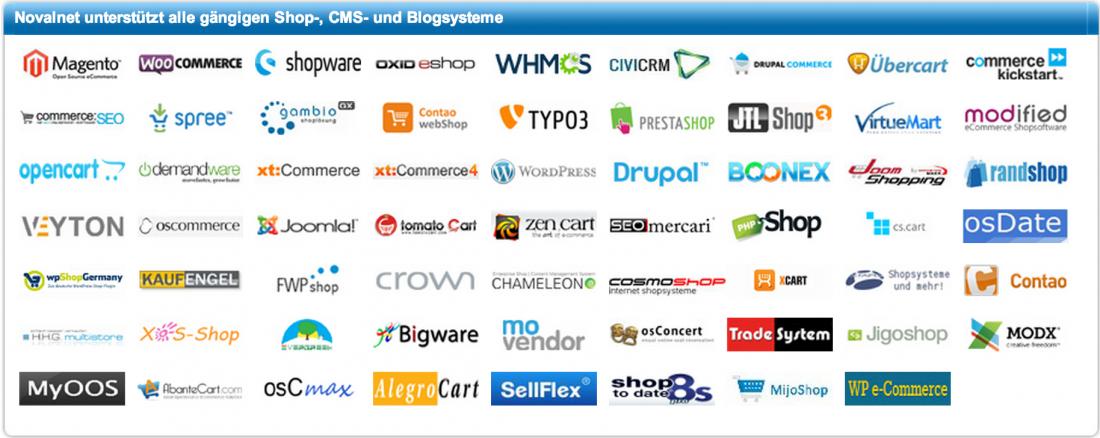 Novalnet Shop- CMS und Blogsysteme